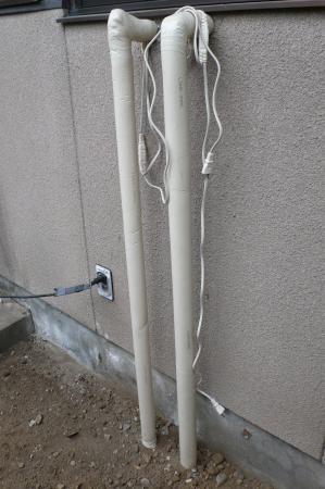 既設の配管もシッカリ保温します