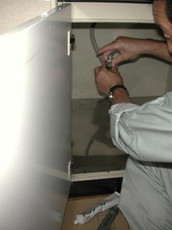 ガス配管の端末処理をします