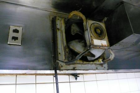 既設の厨房用換気扇