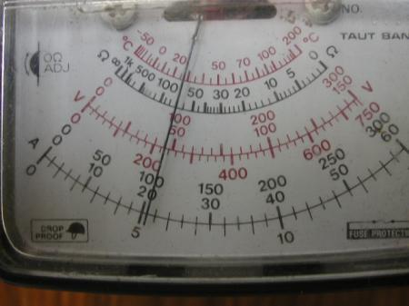 交換前の電流測定です