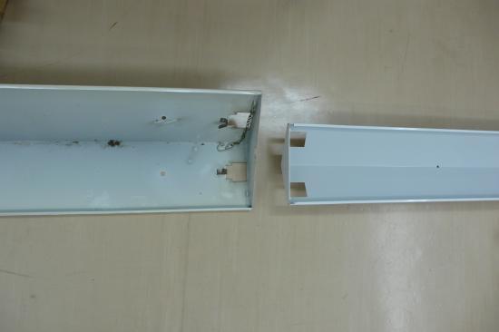 照明器具の大きさは小型になっても  電気代が 40パーセントも省エネで  1.5倍も明るいんです。