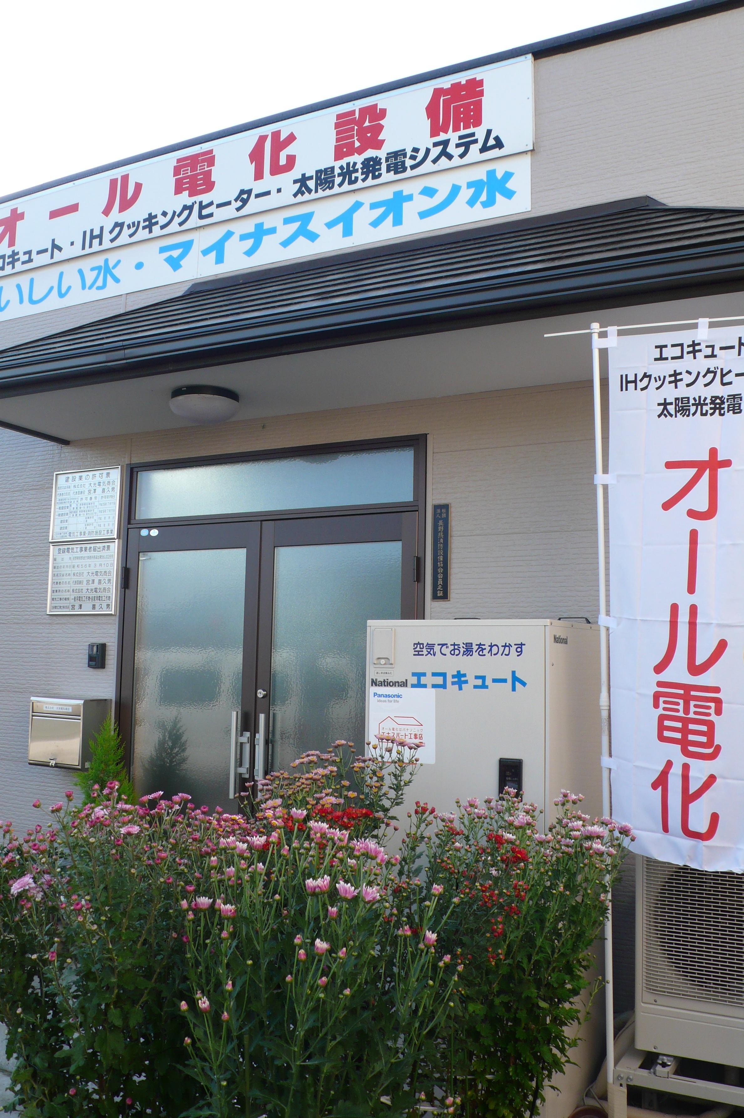 会社の玄関は今は菊の花盛りです。