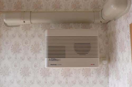 完成です。  室内の換気扇を取付けました。