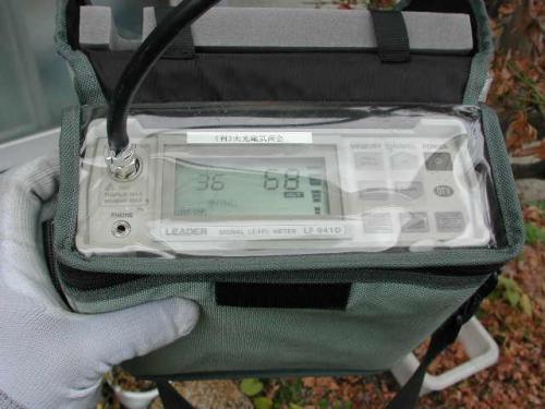 測定器で電波を測定し一番良い状態にチャンネル設定します