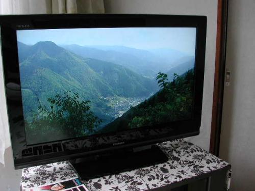 きれいにテレビが映りました  これでお正月も安心です。