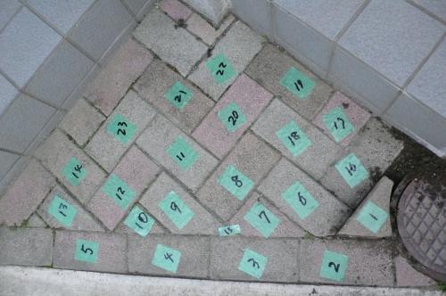 復旧が出来るように掘削前に番号をつけました