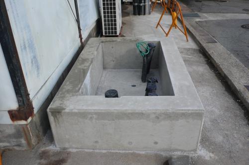 コンクリートの型枠が完成しました