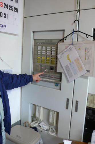 火災報知機の受信機の点検です