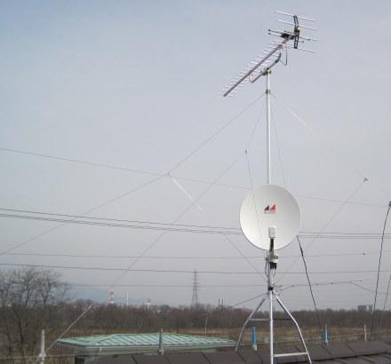 UHFアンテナと BS/CS110°の  アンテナ の方向は同じとは限りません