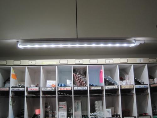 LED照明の取付け完了です