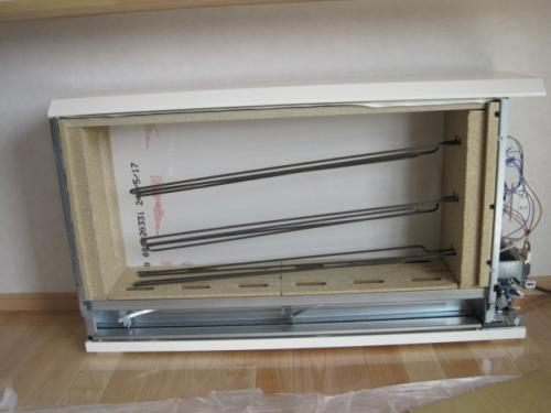 蓄熱暖房器を リビングへ設置します