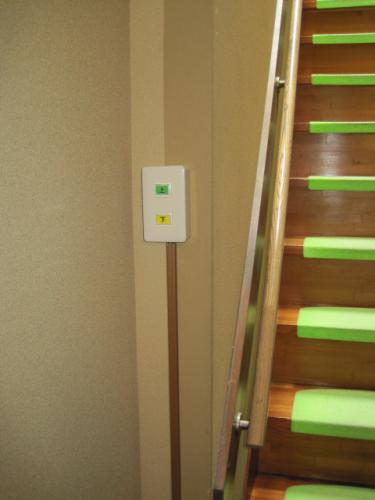 壁にも操作スイッチがあります