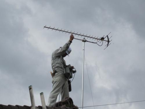 テレビアンテナ方向を調整します