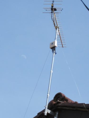 テレビアンテナの工事完成です