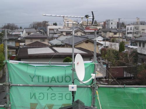 テレビアンテナ工事の完成です