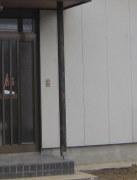 テレビドアホンを取付け前の玄関です