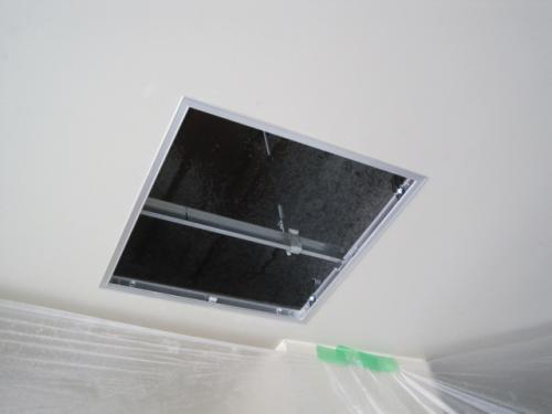 点検口用に天井を開口します
