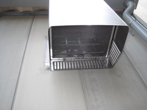 換気扇フードの取付け完成です