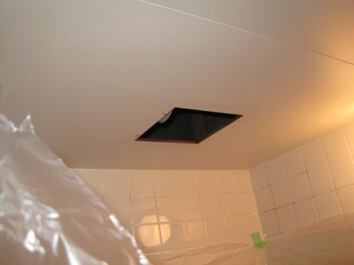 天井ダクト換気扇をはずしました