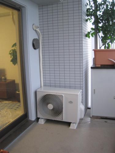 室外機の設置場所はこのようになりました