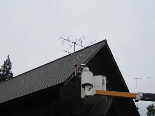 アンテナの取付位置を変更します