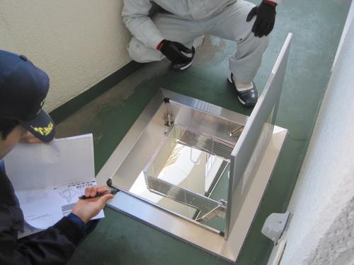 消防署に工事の着工届・設置届を提出して 必ず立ち合い検査をして頂きます