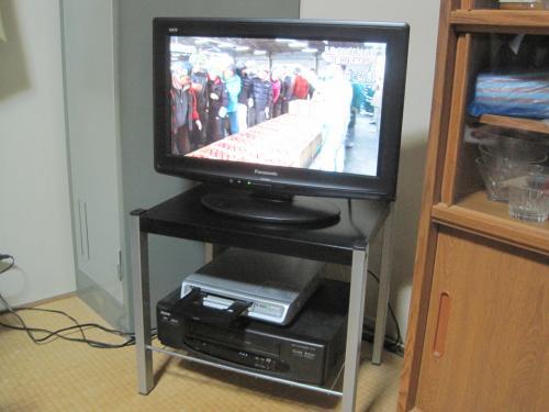 地デジテレビがきれいに映りました