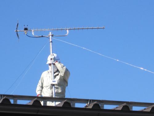 受信レベルを確認してアンテナ工事完了です