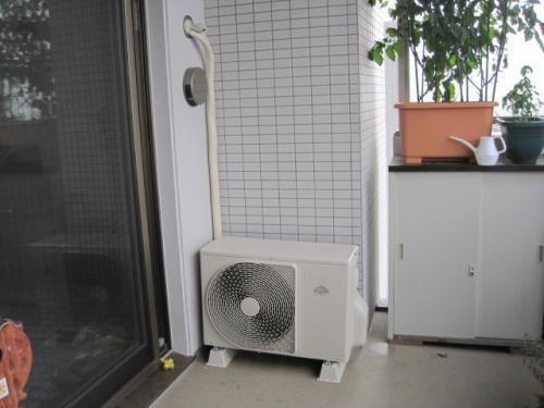 エアコンの設置工事完了です
