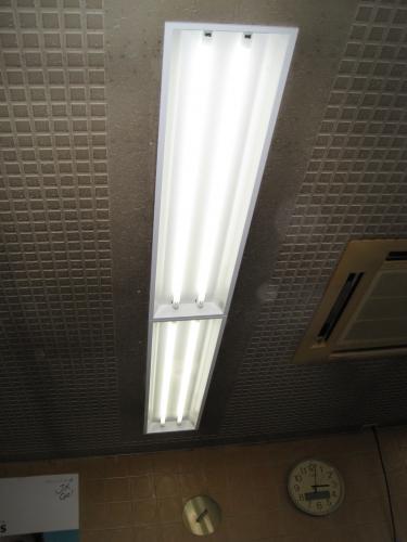 32w2灯式のインバーター照明器具に交換しました
