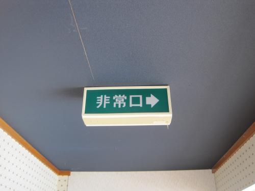 蛍光灯の避難口誘導灯です