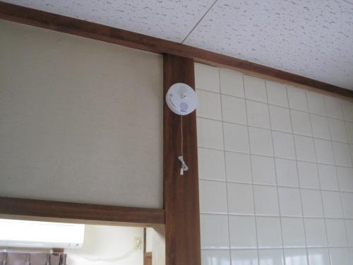 台所の熱感知器の取り付例です
