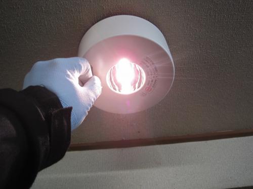 停電状態になるとこの様に点灯します