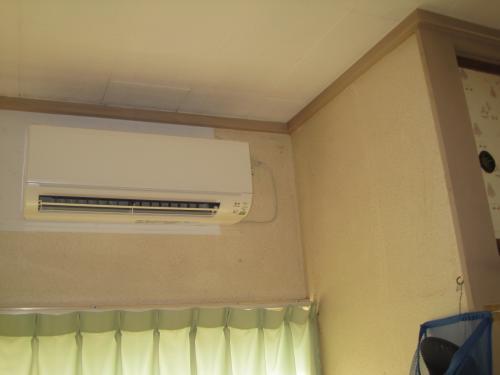 エアコンの冷房運転開始です