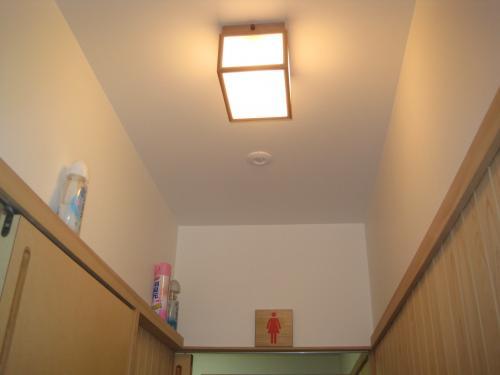 廊下の照明の人感センサーです