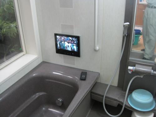 浴室テレビ工事完成です