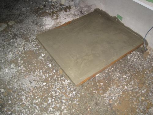 基礎コンクリートを打ちました