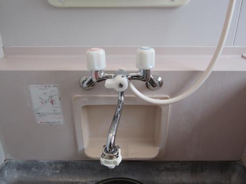 浴室シャワー水洗を交換しました