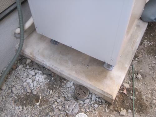 電気温水器の基礎が使用できました