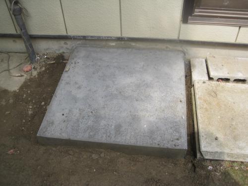 現場打ちのコンクリート架台も準備できています