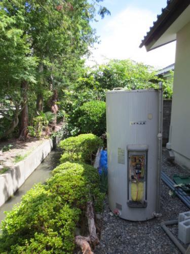 電気温水器を撤去しました