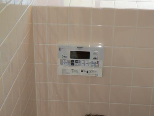 浴室リモコンの取付け完了です