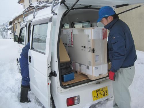 長野県中野市は大雪でした