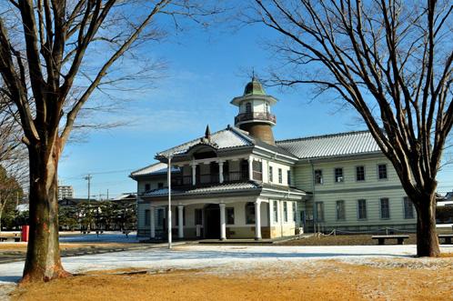 茨城県立歴史館の雪景色01