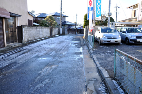 2011年1月15日水戸で初積雪11
