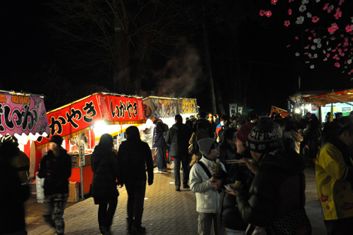 夜の偕楽園・夜梅祭2012-02
