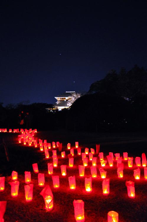 夜の偕楽園・夜梅祭2012-10