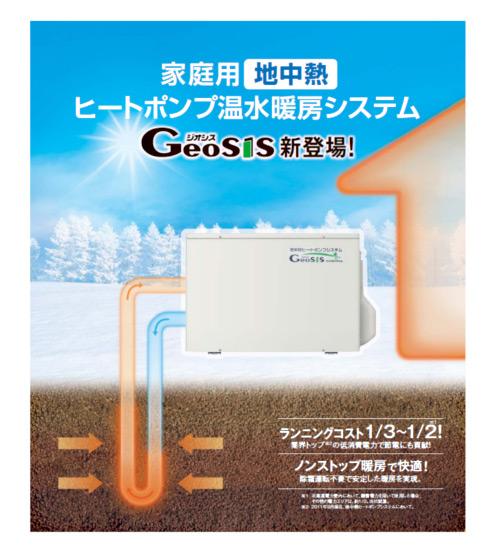 株式会社コロナさまの地中熱ヒートポンプシステム、ジオシス01