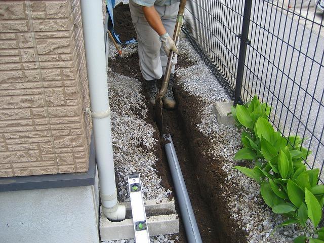 排水の埋設