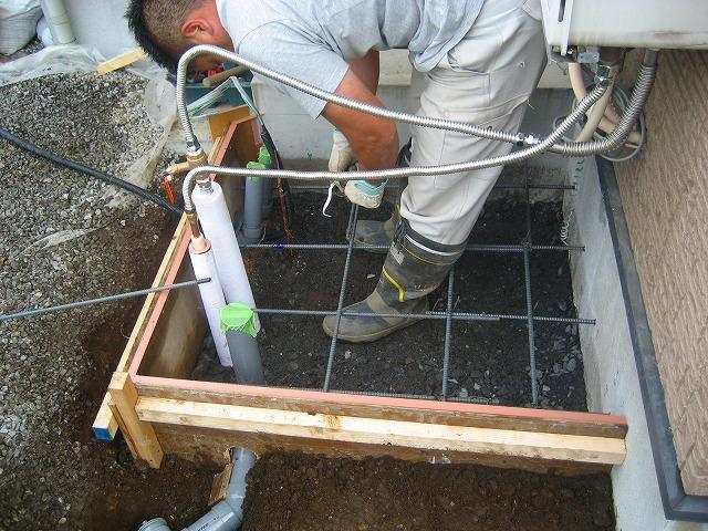 パイプ埋設配管